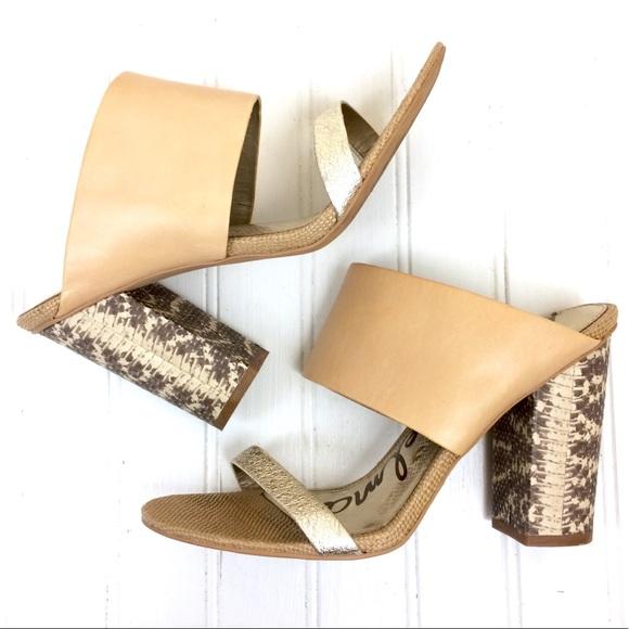 bf13772677cef Sam Edelman natural Yoselin chunky heeled sandals.  M 5c5642537386bc7efa3a214e